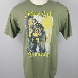 Jethro Tull Aqualung Olive Tee Mens XXL